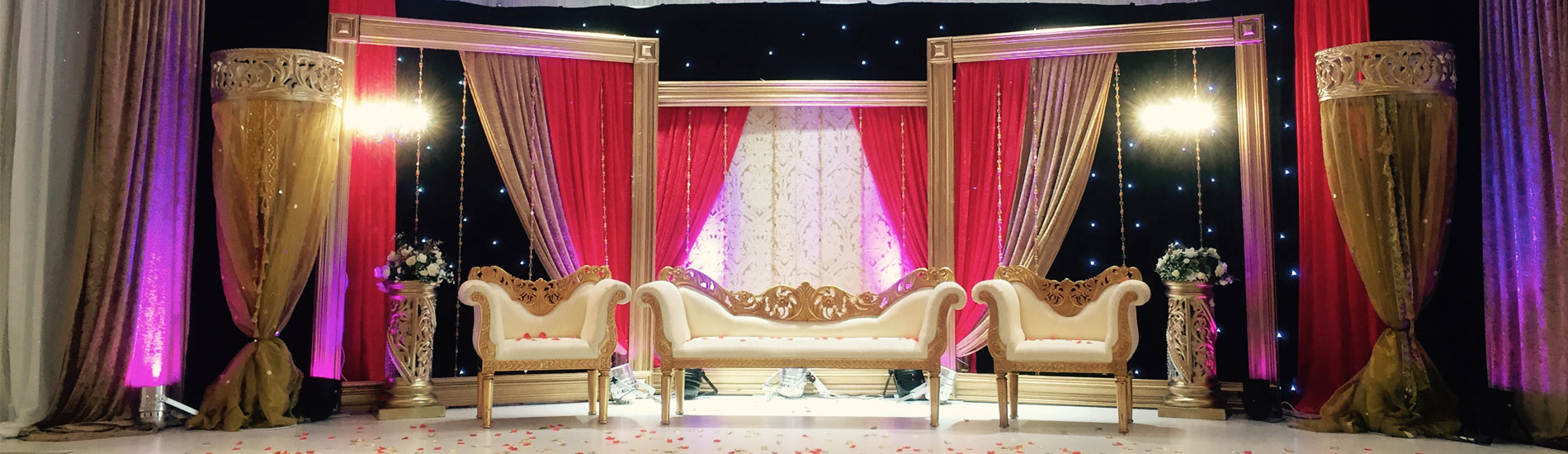 Asian wedding event management asian wedding stages for Asian wedding stage decoration birmingham