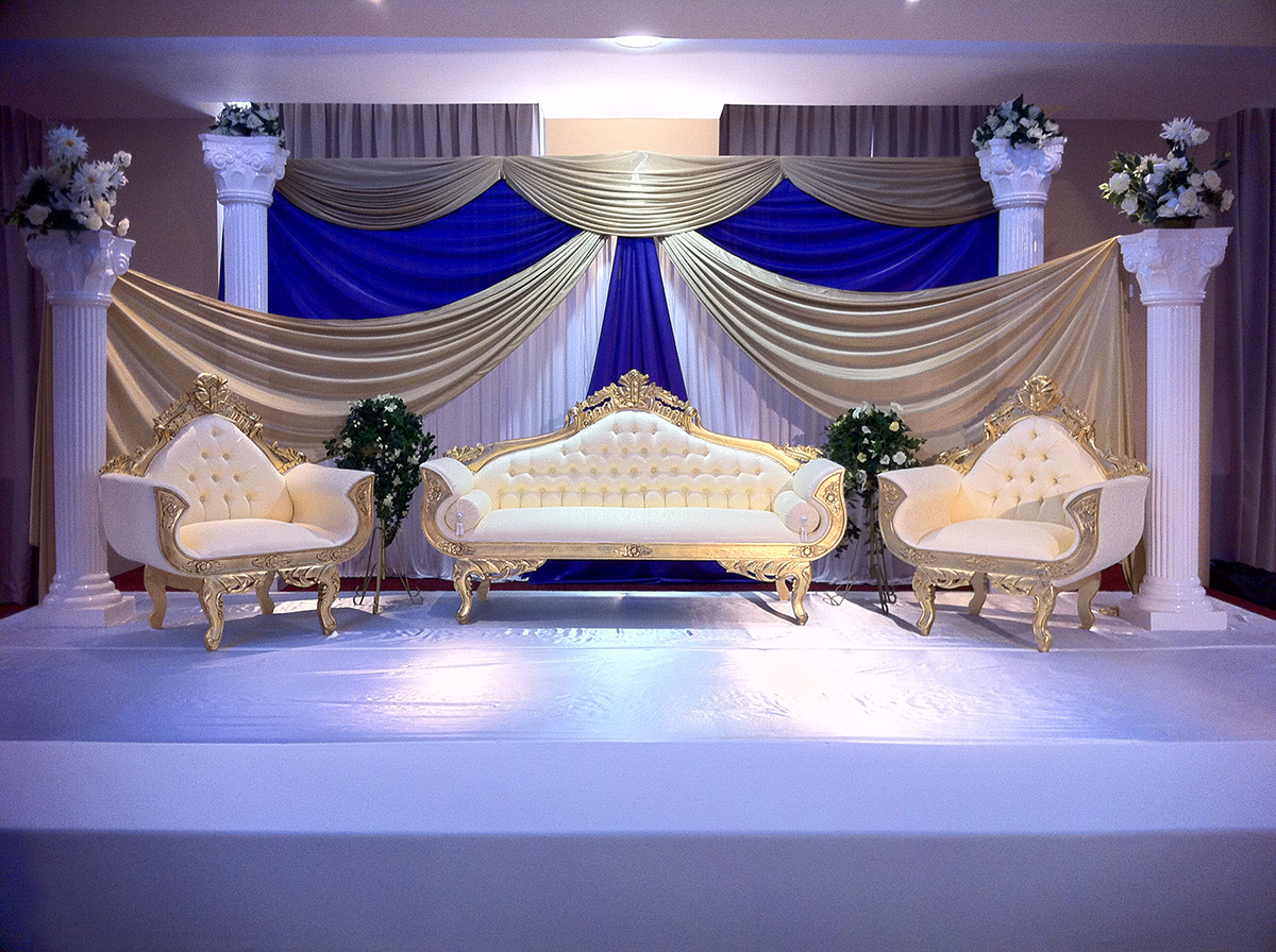 Mandaps asian wedding event management asian wedding for Asian wedding stage decoration birmingham