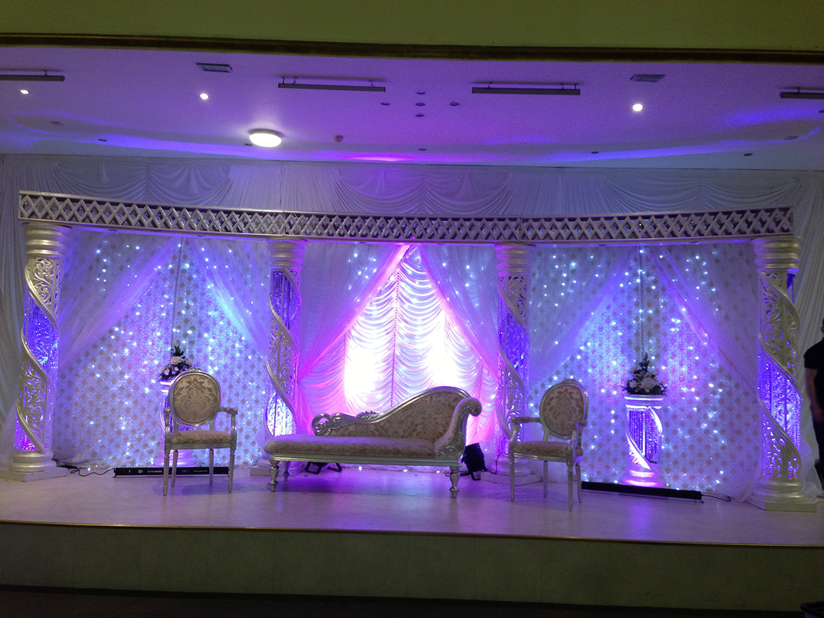 Mandaps asian wedding event management asian wedding for Asian wedding stage decoration manchester
