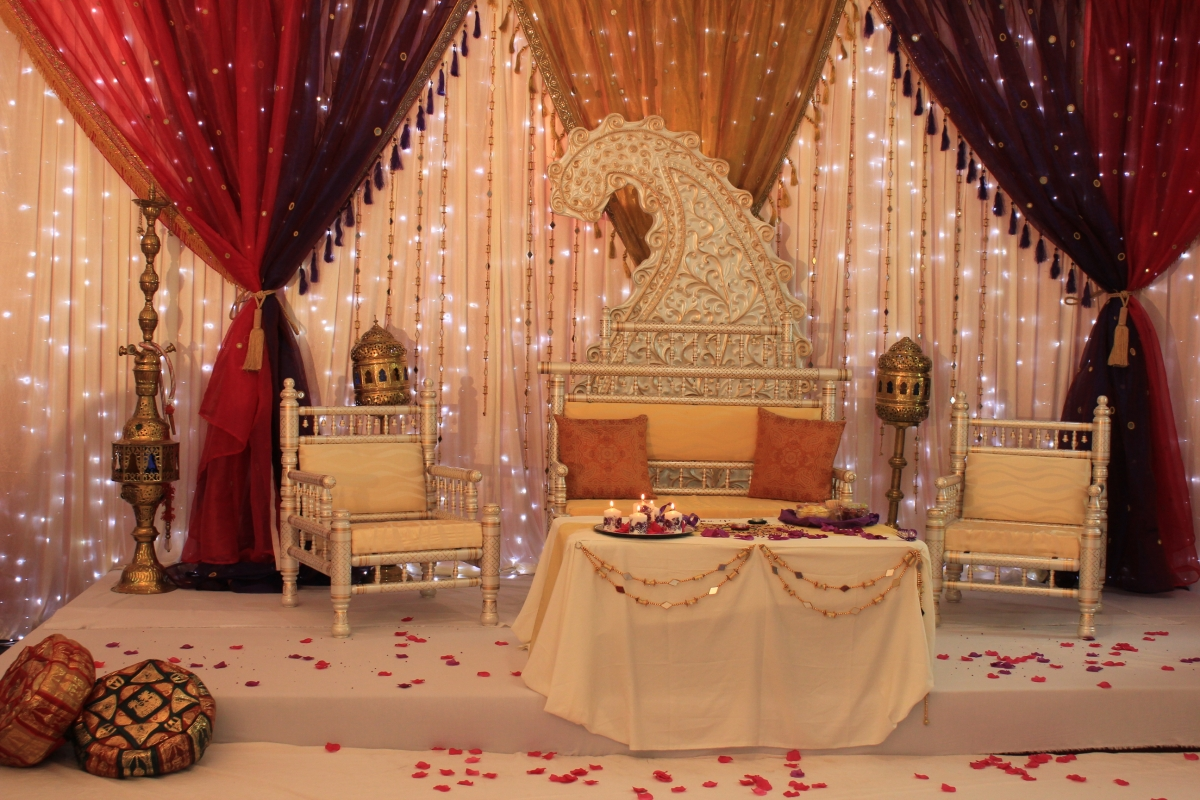 Mehndi stages asian wedding event management asian for Asian wedding stage decoration london
